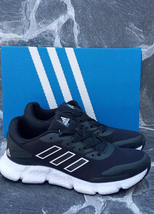 Мужские кроссовки adidas galaxy черные, весенние