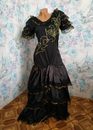 Платье кармен,карнавальный костюм,цыганка,испанка,испанское пл...