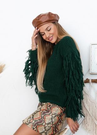 Зелений светр 1020, 42-48 розмір