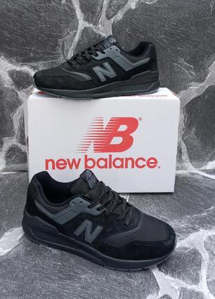 Мужские кроссовки new balance 997h черные, весенние