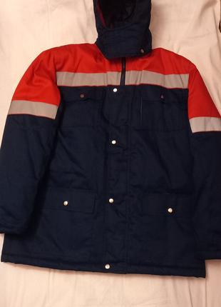 Новый зимний комбинизон и куртка со светоотражателями.