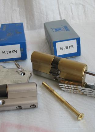 Цилиндровый механизм замка 70 мм.