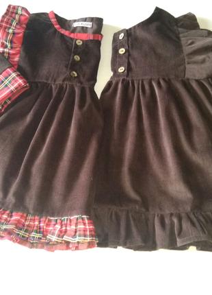 Детское платье из вельвета