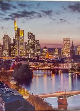 Пазлы Вечерний город, Франкфурт, Германия 1500 элементов