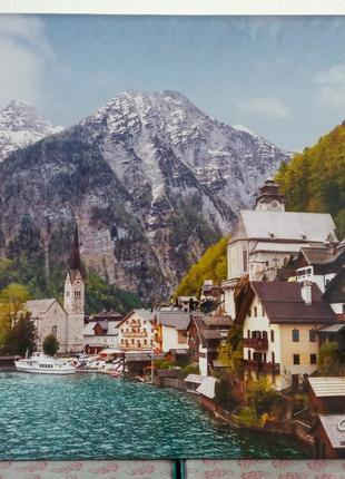 Пазлы твердые Альпийский городок, Австрия 1500 эл.