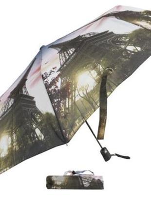 Зонт полуавтомат с принтом эйфелева башня