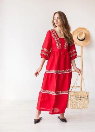 Сукня лляна «Яблунниця»