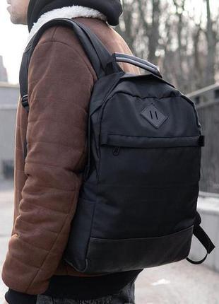 Мужской рюкзак чёрный городской тканевый