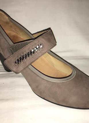 Туфли *gabor* кожа -нубук  германия   40р. (26.50)