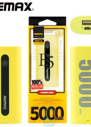 Power Bank Remax E5 5000 mAh желтый