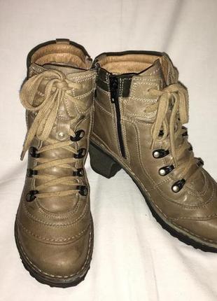 Ботинки *josef seibel* мех кожа болгария р.37 (24.00 см)