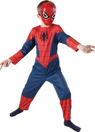 Костюм спайдермена человек паук с пластиковой маской