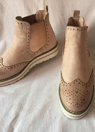 Ботинки-оксфорды гламурные р.38 ( 25.00 см)