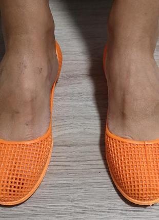 Турецкие силиконовые балетки in-ox 38-39 размер оранжевые,аква...
