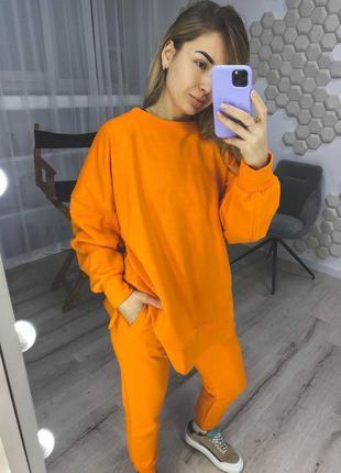 Кофта худи оранжевая