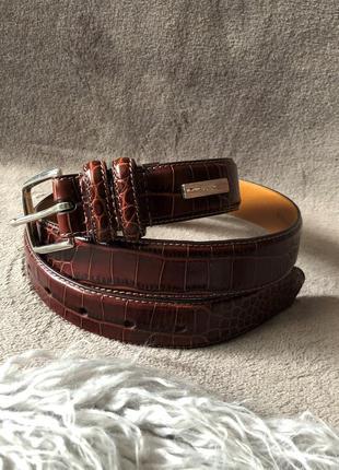 Женский шикарный кожаный ремень polo ralph lauren