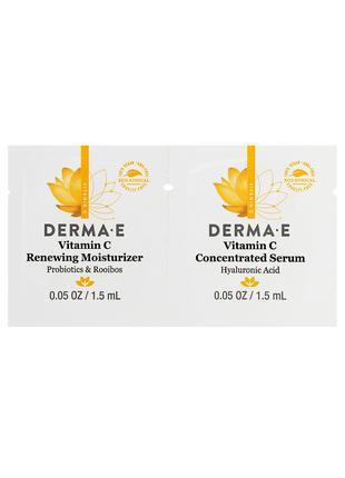 Пробник - Омолаживающие крем и сыворотка с вит С Derma E США