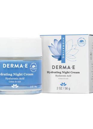 Увлажняющий ночной крем с гиалуроновой кислотой derma e (usa)