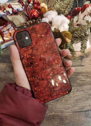 Блестящий мягкий силиконовый чехол для iphone 11