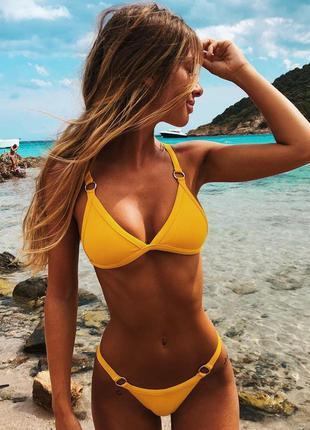 Купальник желтый женский размер с