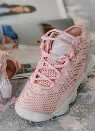 Кроссовки розовые фила размер 36,37,38,39