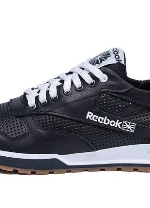 Чоловічі літні кросівки перфорація Reebok Classic Black