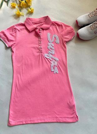 Футболка поло розовая для девочки подростка