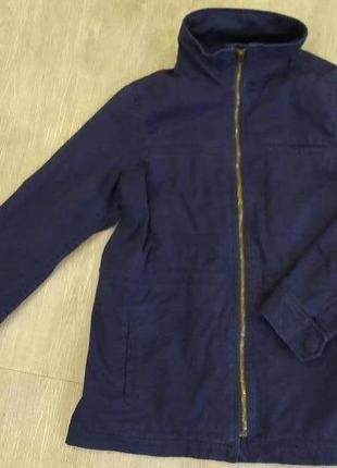Темно-синяя джинсовая парка/куртка gap