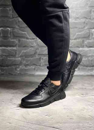 👟 кроссовки кеды мужские  nike натуральная кожа / наложенный п...