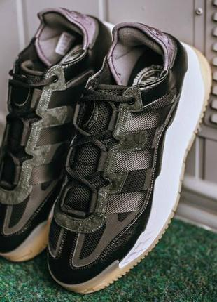 Adidas niteboll black khaki, мужские кроссовки адидас хаки