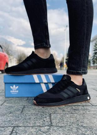 Мужские кроссовки adidas iniki black & gold