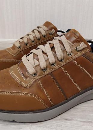 Кожаные кроссовки ботинки skechers memory foam