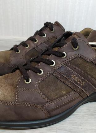 Кожаные кроссовки туфли ecco