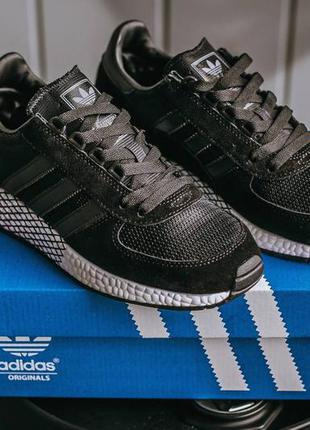 Adidas marathon black white, кроссовки адидас