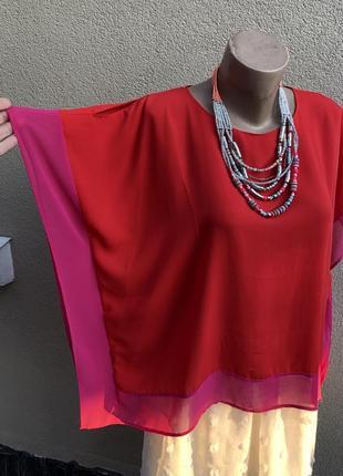 Тонкая блуза,разлетайка,пончо,рубаха,открытые плечи,люкс бренд,