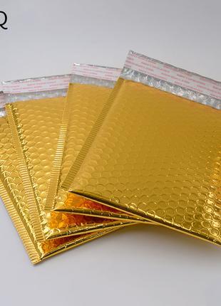 Золотые почтовые пакеты, конверты с пузырчатой упаковкой