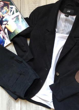 Пиджак со вставками на локтях H&M
