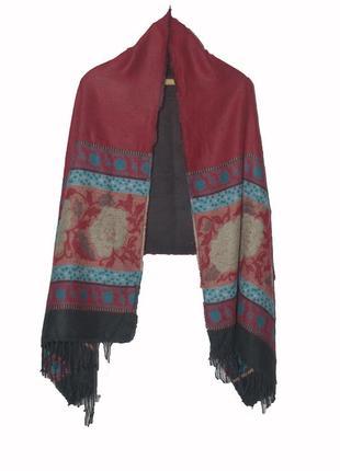 Шикарный двухсторонний шарф палантин накидка