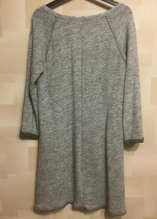 Платье серое  -л        h&m