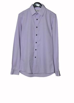 Брендовая мужская рубашка светло-сиреневого цвета