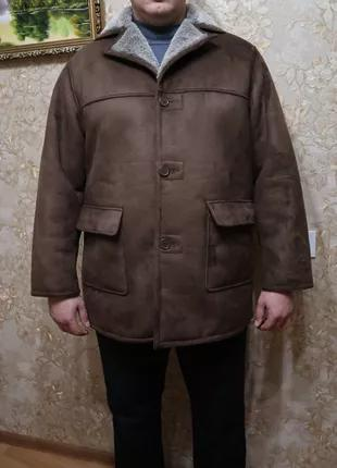 Мужская зимняя дубленка классического дизайна