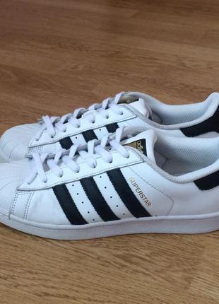 Кожаные кроссовки adidas superstar оригинал 40,5 размера