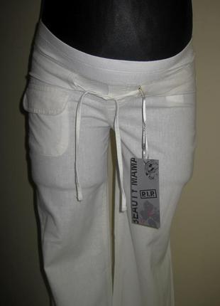 Льняные брюки для беременных