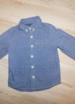 Джинсовая рубашка для мальчика 1,5-2 лет mothercare