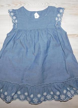 Легкий джинсовый сарафан для девочки