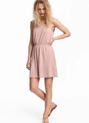 Трикотажное платье без рукавов h&m