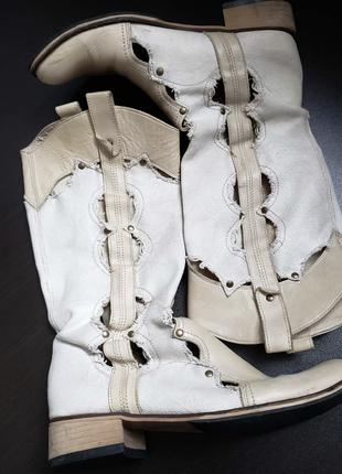 Сапоги казаки чоботи р.39 25,5-26 см. кожа Италия стильні літні