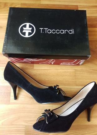 Женские туфли с открытым носком. Размер 38