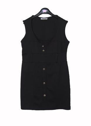 Черное платье сарафан из плотного трикотажа