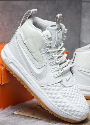 Nike duckboot white, мужские белые демисезонные кроссовки найк.